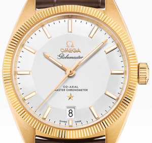 Fake Omega Globemaster Co-Axial Master Chromometers 39 MM With Yellow Gold Case