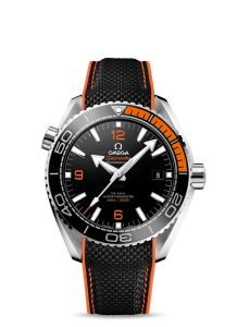 Popular Black And Orange Omega Seamaster Planet Ocean 600M Co-Axial Master Replica Watches